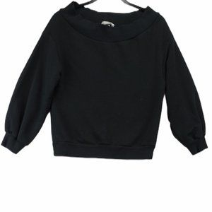 ☀️H&M black wide neck sweater size small